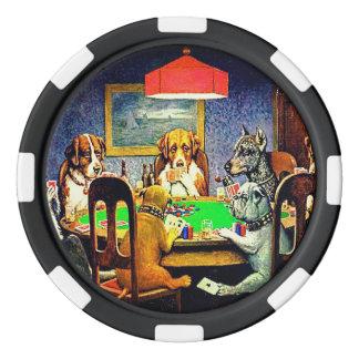 Chiens jouant au poker jetons de poker
