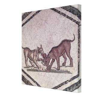 Chiens luttant pour un oiseau, romain, 2ème-3ème s toiles