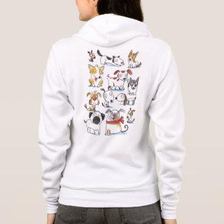 chiens mignons de bande dessinée veste à capuche