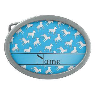 Chiens nommés personnalisés de bull-terrier de boucles de ceinture ovales