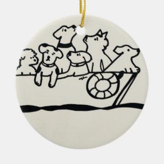 """""""Chiens ornement sur bateau"""" par Willowcatdesigns"""
