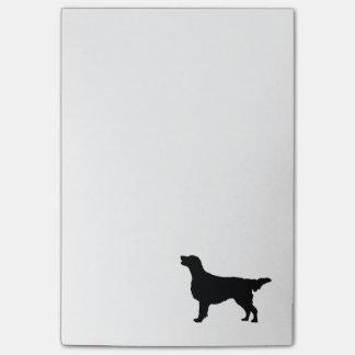 Chiens Plat-Enduits d'amour de silhouette de chien