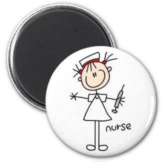Chiffre aimant de bâton d'infirmière