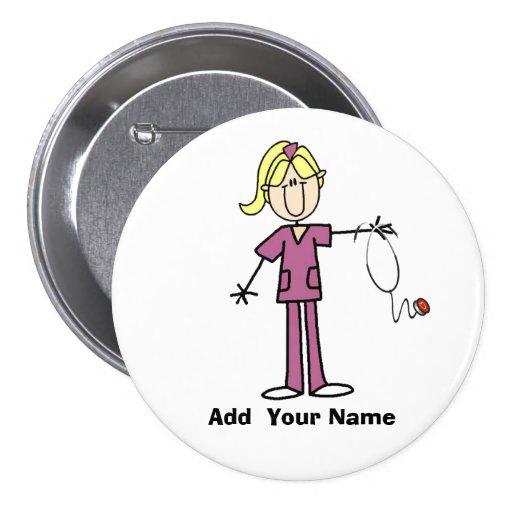 Chiffre blond personnalisé bouton de bâton d'infir badge