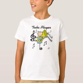Chiffre chemise de bâton de joueur de tuba t-shirt