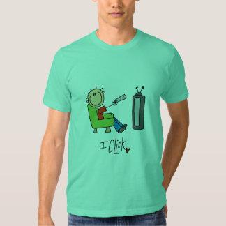 Chiffre Clicker de bâton de TV T-shirt
