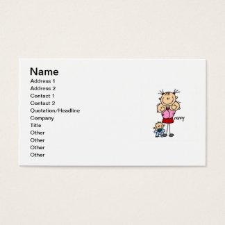 Chiffre de bâton de bonne d'enfants cartes de visite