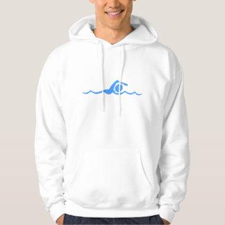 Chiffre de natation - bleu layette veste à capuche