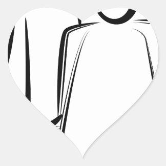 Chiffre dessin de bâton de coiffeur sticker cœur