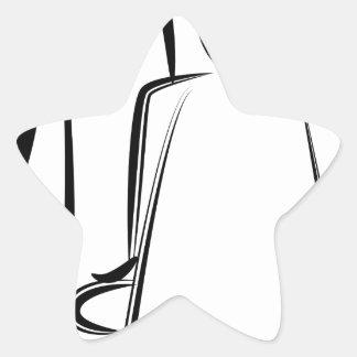 Chiffre dessin de bâton de coiffeur sticker étoile