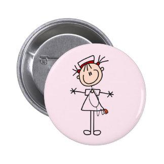 Chiffre femelle blanc cadeaux de bâton de l'infirm badges