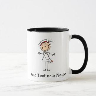 Chiffre femelle blanc cadeaux de bâton de mug