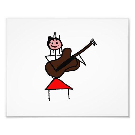 chiffre femelle rouge rose de bâton de guitare de  art photographique