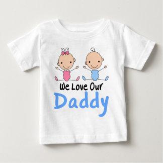 Chiffre jumeau bébés de bâton de garçon et de t-shirt pour bébé