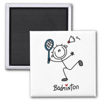 Chiffre masculin de base badminton de bâton magnets