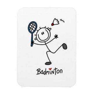 Chiffre masculin de base badminton de bâton magnet rectangulaire