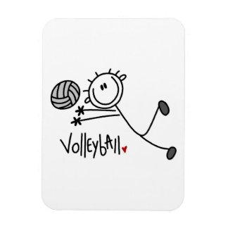 Chiffre masculin de base volleyball de bâton magnet rectangulaire