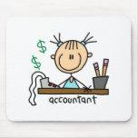 Chiffre Mousepad de bâton de comptable Tapis De Souris