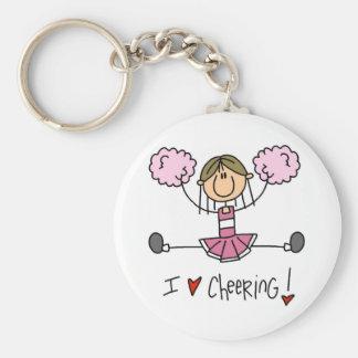 Chiffre rose T-shirts et cadeaux de bâton de pom-p Porte-clé Rond