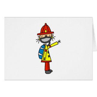Chiffre sapeur-pompier de bâton avec la carte de