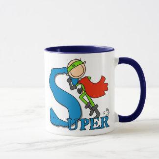 Chiffre superbe héros de bâton mug