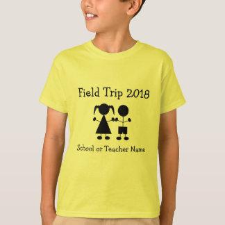 Chiffre T-shirt de fille et de garçon d'excursion