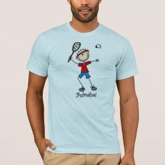 Chiffre T-shirts de bâton de badminton