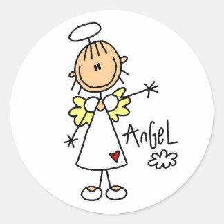 Chiffre T-shirts et cadeaux de bâton d'ange Sticker Rond