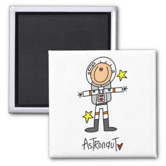 Chiffre T-shirts et cadeaux de bâton d'astronaute Magnet Carré