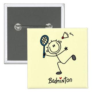 Chiffre T-shirts et cadeaux de bâton de badminton Badge