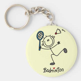 Chiffre T-shirts et cadeaux de bâton de badminton Porte-clé Rond