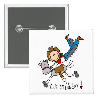 Chiffre T-shirts et cadeaux de bâton de cowboy Badges