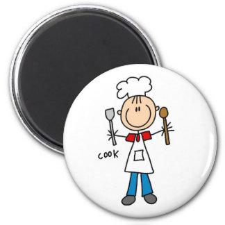 Chiffre T-shirts et cadeaux de bâton de cuisinier Magnet Rond 8 Cm