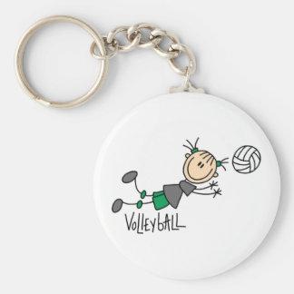 Chiffre T-shirts et cadeaux de bâton de volleyball Porte-clé Rond