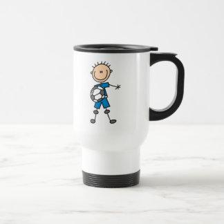 Chiffre uniforme bleu cadeaux de bâton de garçon mug de voyage