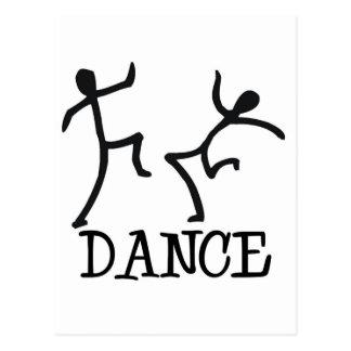 Chiffres de bâton de danse cartes postales