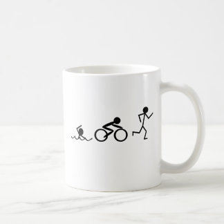 Chiffres de bâton de triathlon mug