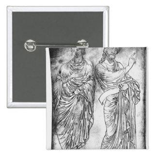 Chiffres de deux apôtres ou prophètes badge