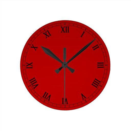 chiffres romains classiques sur le gradient rouge horloge. Black Bedroom Furniture Sets. Home Design Ideas