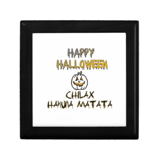 Chilax Halloween heureux Hakuna Matata Petite Boîte À Bijoux Carrée