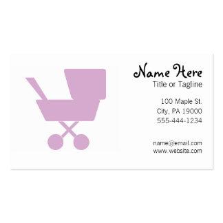 Childcare gardant les enfants la bonne d'enfants carte de visite