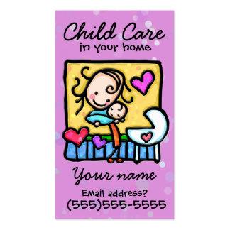 Childcare. Garde d'enfants. Babysitter. Carte Carte De Visite Standard