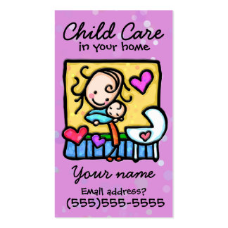 Childcare. Garde d'enfants. Babysitter. Carte fait Carte De Visite