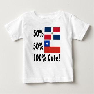 Chilien du Dominicain 50% de 50% 100% mignon T-shirt