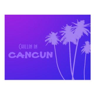 chillin en carte postale de Cancun
