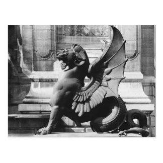 Chimères de la fontaine de St Michel, Paris Carte Postale