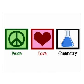 Chimie d'amour de paix carte postale
