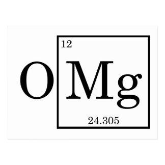 Chimie de la Science de magnésium d'OMG Cartes Postales