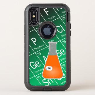 Chimie orange de flacon erlenmeyer (Avec des