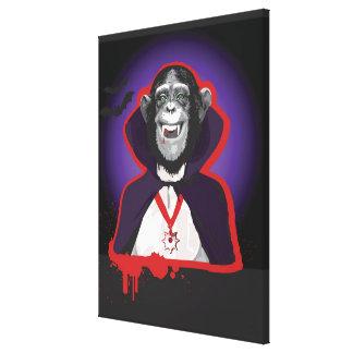 Chimpanzé dans le costume de Dracula Toiles